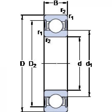 Bantalan 61804-2RS1 SKF